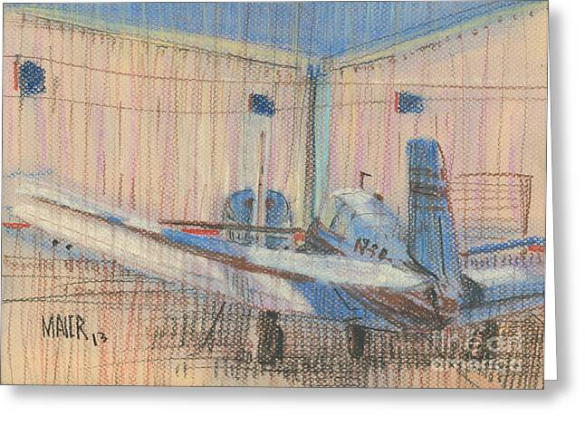 Bass Pastels Greeting Cards - Two Planes Greeting Card by Donald Maier