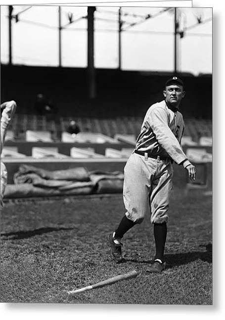 Hall Of Fame Baseball Players Greeting Cards - Tyrus R. Ty Cobb Greeting Card by Retro Images Archive