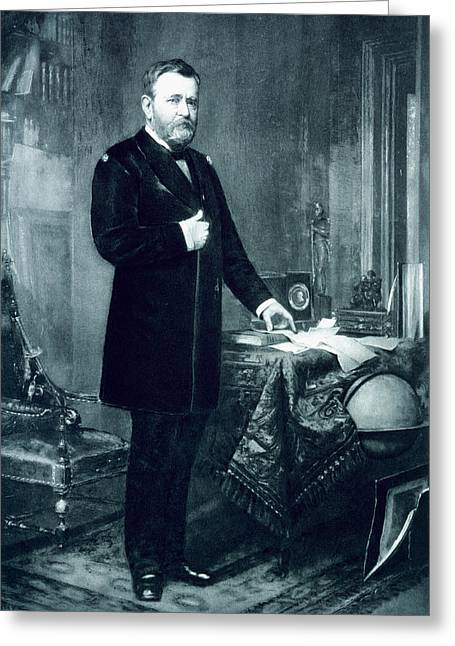 Republican Paintings Greeting Cards - Ulysses S Grant Greeting Card by American School
