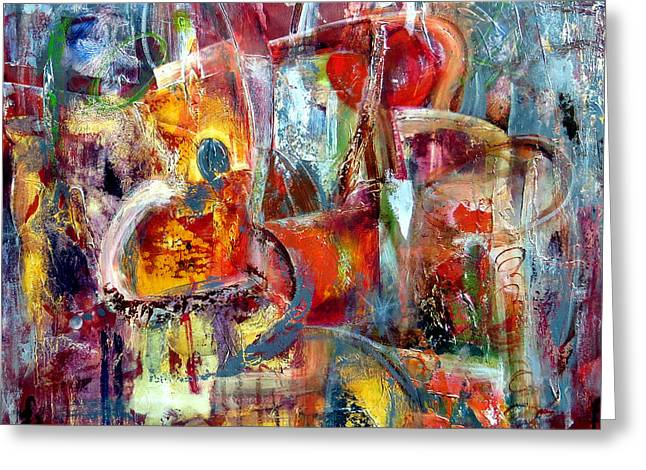 Urban Images Paintings Greeting Cards - Under Construction Greeting Card by Katie Black