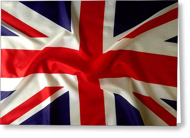 British Greeting Cards - Union Jack Greeting Card by Les Cunliffe