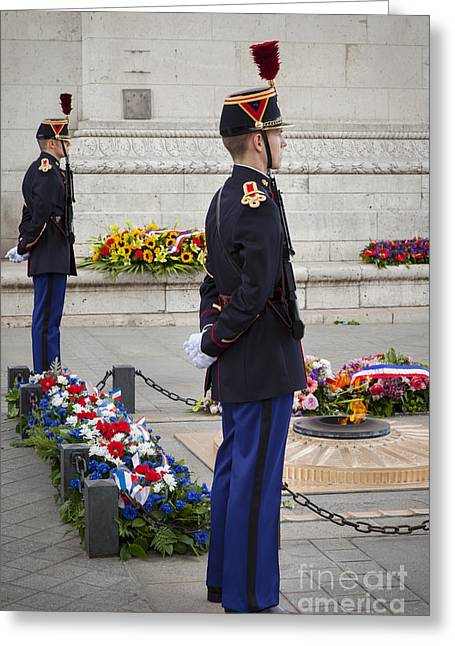 Eternal Flame Greeting Cards - Unknown Soldier Greeting Card by Brian Jannsen