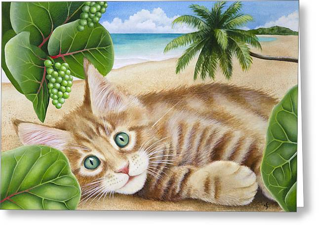 Lounge Greeting Cards - Izzy Greeting Card by Carolyn Steele