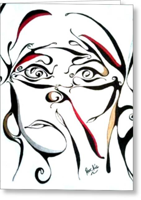 Abstract Hijab Greeting Cards - Untitled Greeting Card by James Bowman