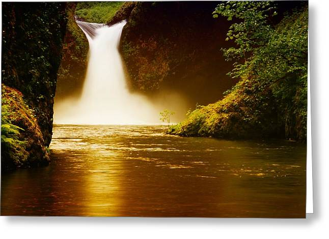 Upper Punch Bowl Falls Greeting Cards - Upper Punch Bowl Falls Greeting Card by Jeff  Swan