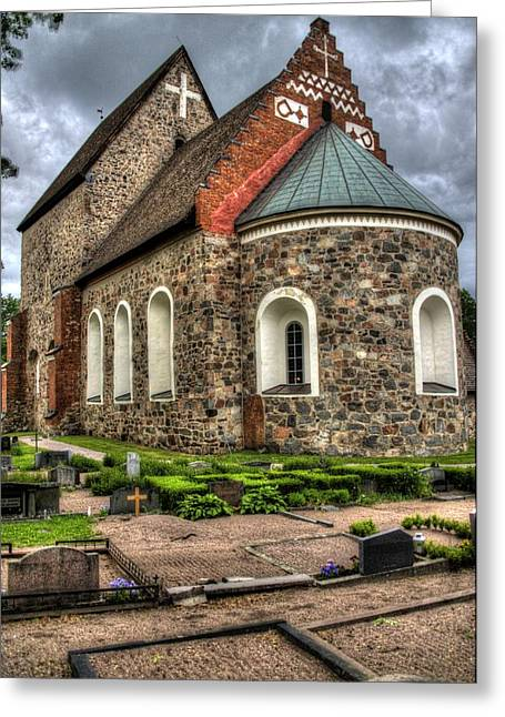 Mound Greeting Cards - Uppsala Church - Gamia - Uppsala Sweden Greeting Card by Jon Berghoff
