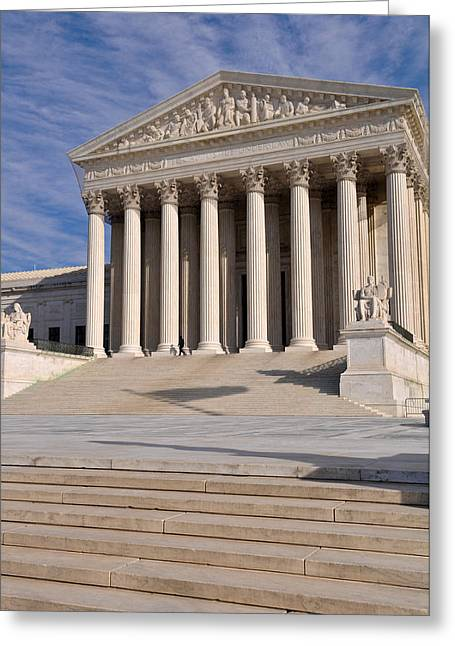 Equality Greeting Cards - US Supreme Court Building in Washington DC Greeting Card by Brandon Bourdages