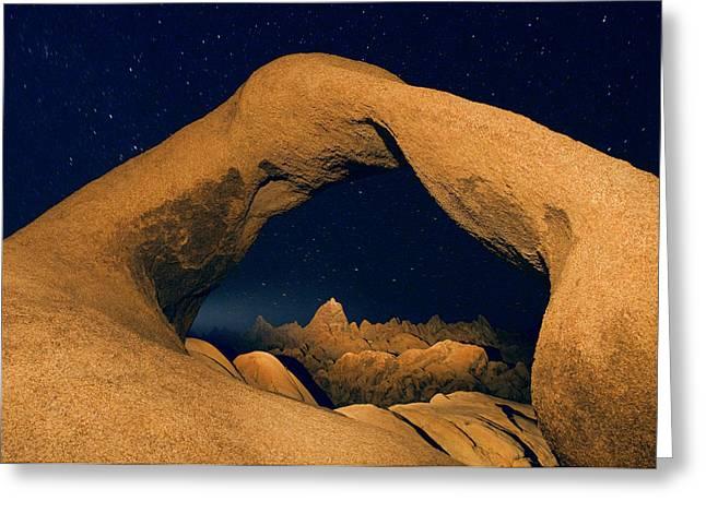 Usa, California, Alabama Hills Greeting Card by Jaynes Gallery