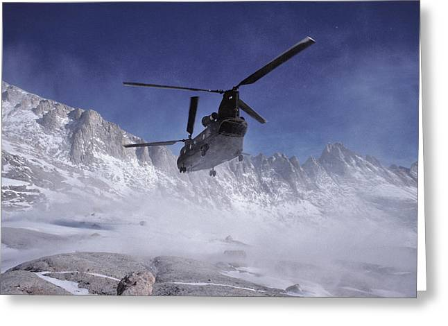 Usa, California, Chinook Search Greeting Card by Gerry Reynolds