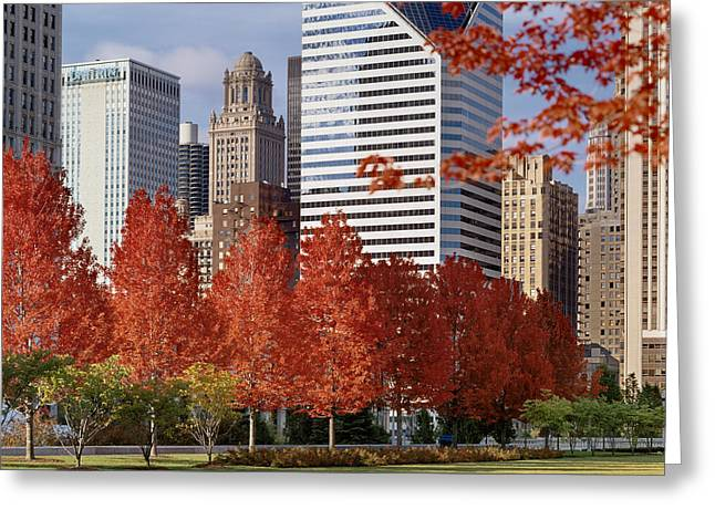 Concert Images Greeting Cards - Usa, Illinois, Chicago, Millennium Greeting Card by Panoramic Images