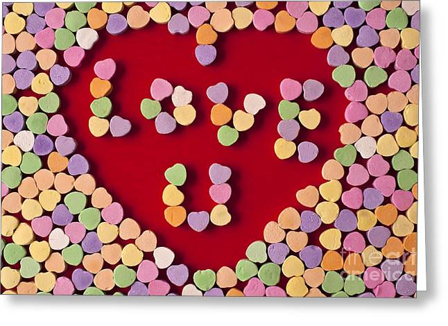 American Food Greeting Cards - Valentines Day Candies Greeting Card by Jim Corwin