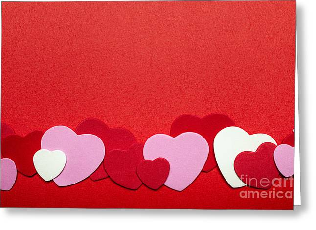 Edge Greeting Cards - Valentines day hearts Greeting Card by Elena Elisseeva