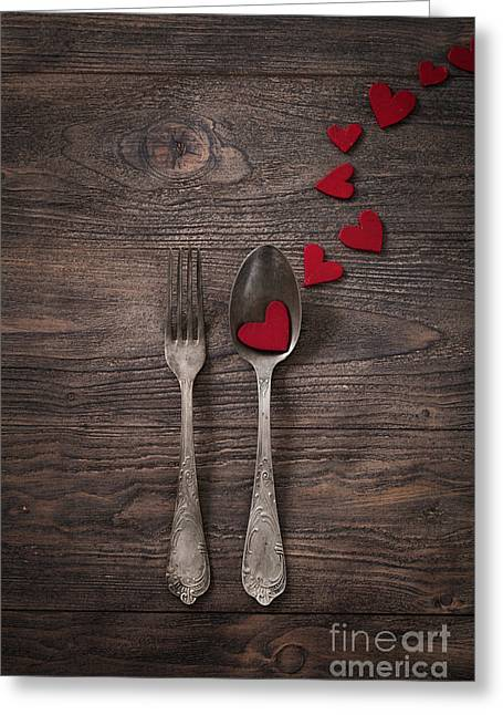 Mythja Greeting Cards - Valentines dinner Greeting Card by Mythja  Photography