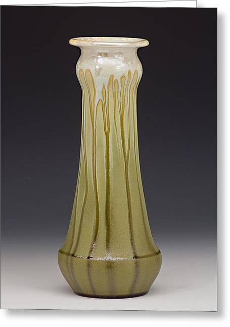 Olive Ceramics Greeting Cards - Vase Greeting Card by Samantha Henneke