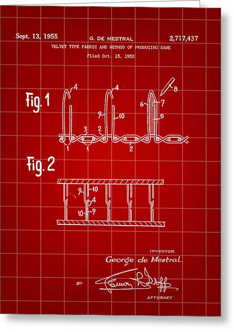 Velcro Patent 1952 - Red Greeting Card by Stephen Younts