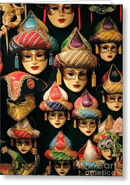 Europe Greeting Cards - Venetian masks Greeting Card by Inge Johnsson