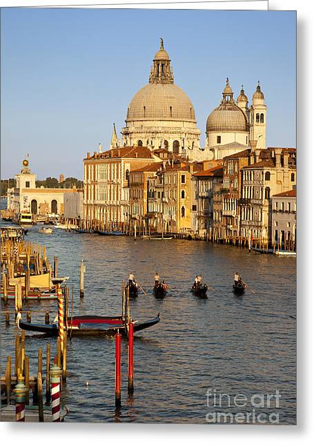 Italian Sunset Greeting Cards - Venice Grand Canal Greeting Card by Brian Jannsen