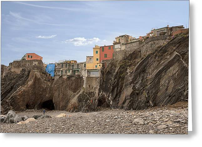 Mediterranean House Greeting Cards - Vernazza Greeting Card by Joana Kruse