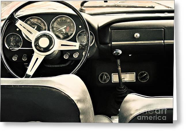 Vintage Car Greeting Card by Dan Radi