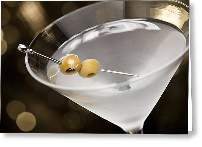 Stir Greeting Cards - Vodka Martini  Greeting Card by Ulrich Schade