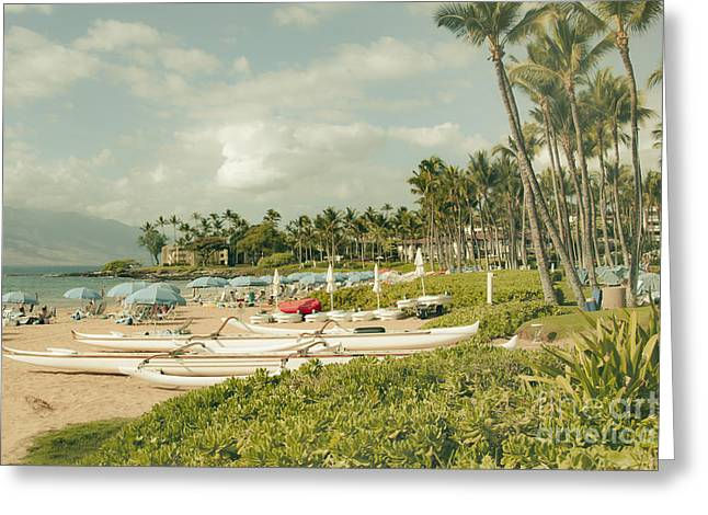 Honuaula Greeting Cards - Wailea Beach Maui Hawaii Greeting Card by Sharon Mau