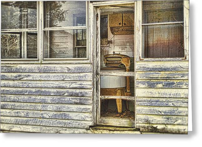 Old House Photographs Photographs Greeting Cards - Wash Day Greeting Card by Kathy Jennings
