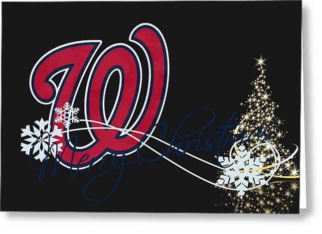 Baseball Greeting Cards - Washington Nationals Greeting Card by Joe Hamilton