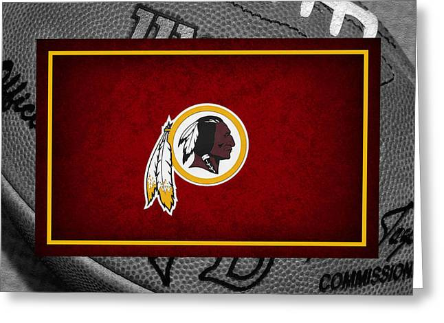 Griffin Greeting Cards - Washington Redskins Greeting Card by Joe Hamilton