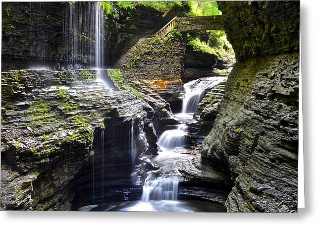 Colossal Greeting Cards - Watkins Glen Greeting Card by Frozen in Time Fine Art Photography