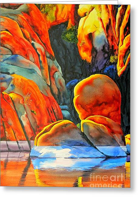 Watson Greeting Cards - Watson Lake Greeting Card by Robert Hooper