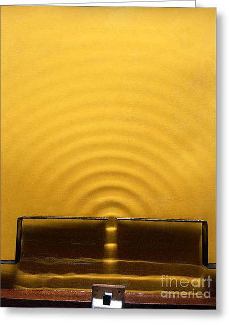 Aperture Greeting Cards - Wave Diffraction Experiment Greeting Card by Andrew Lambert Photography