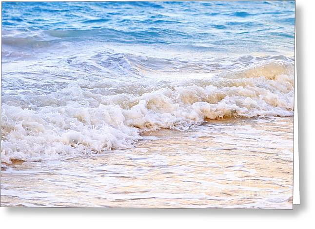 Tropical Oceans Greeting Cards - Waves breaking on tropical shore Greeting Card by Elena Elisseeva