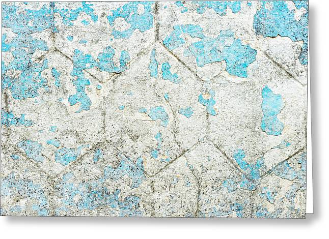Imperfect Greeting Cards - Weathered wall Greeting Card by Tom Gowanlock
