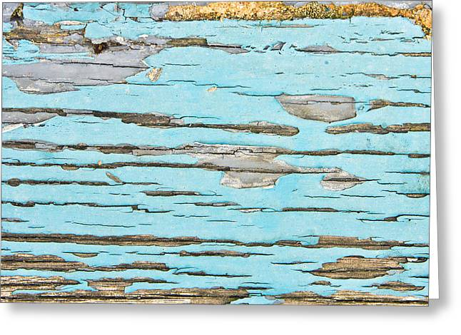 Abstract Style Greeting Cards - Weathered wood Greeting Card by Tom Gowanlock