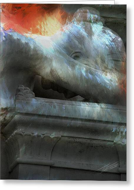 Weeping Angel Greeting Card by Peter Piatt