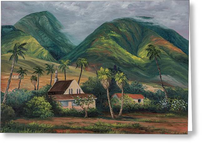 Lahaina Greeting Cards - West Maui Mountains Greeting Card by Darice Machel McGuire