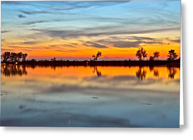 Reflecting Sunset Greeting Cards - Which Way is Up Greeting Card by Frozen in Time Fine Art Photography