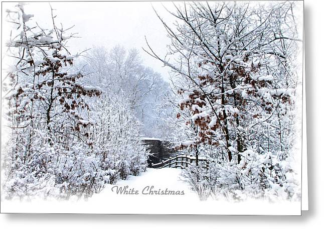 Snow Path Greeting Cards - White Christmas Greeting Card by Jessica Jenney