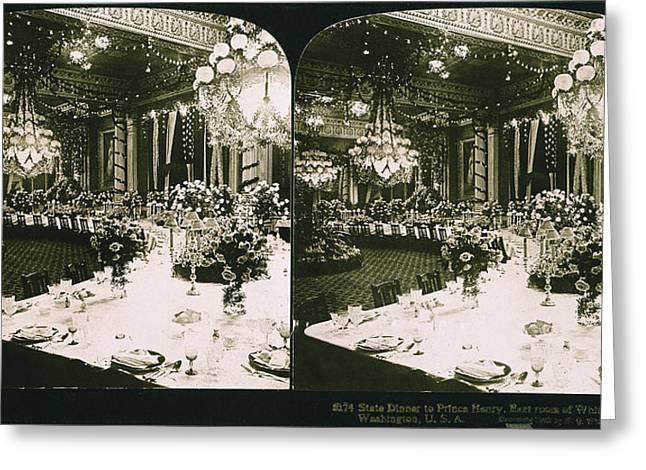 White House State Dinner Greeting Card by Granger