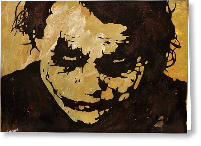 Why So Serious Greeting Card by Jeremy Moore