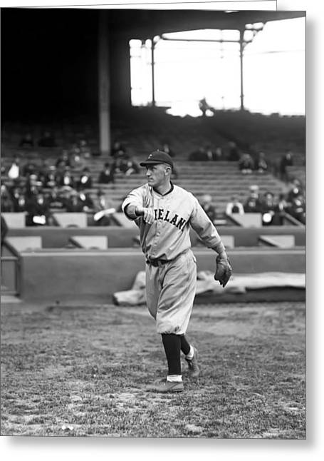 Baseball Game Greeting Cards - William A. Bill Wambsganss Greeting Card by Retro Images Archive