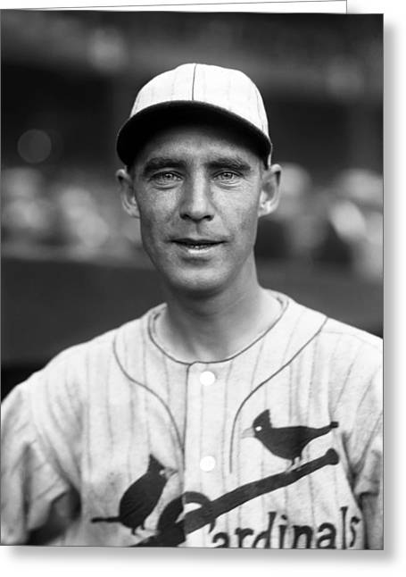 World Series Greeting Cards - William H. Bill Sherdel Greeting Card by Retro Images Archive
