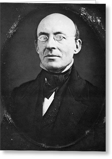 Abolition Movement Greeting Cards - William Lloyd Garrison Greeting Card by Granger