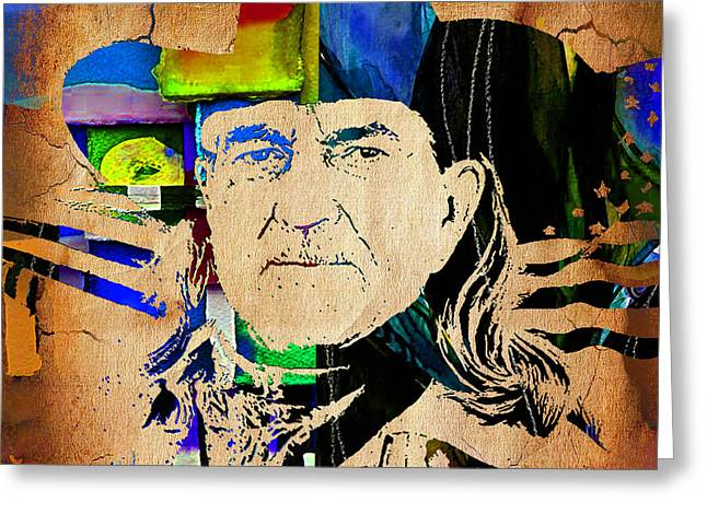 Willie Nelson Greeting Cards - Willie Nelson Collection Greeting Card by Marvin Blaine