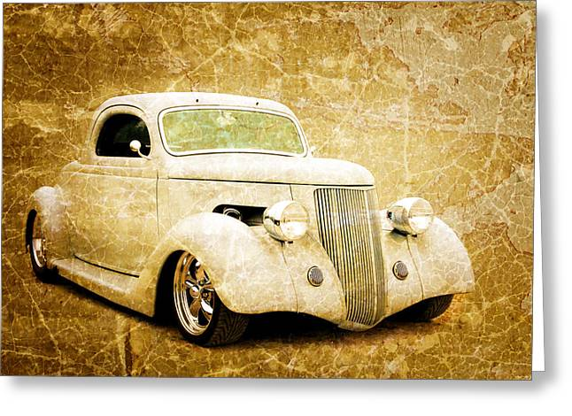 Graffitti Coupe Greeting Cards - 3 Window 36 Greeting Card by Steve McKinzie