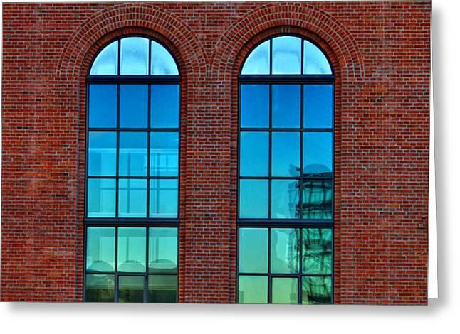 Windows Greeting Card by Kent Mathiesen