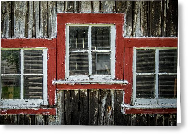 White Frame House Greeting Cards - 3 Windows Greeting Card by Paul Freidlund