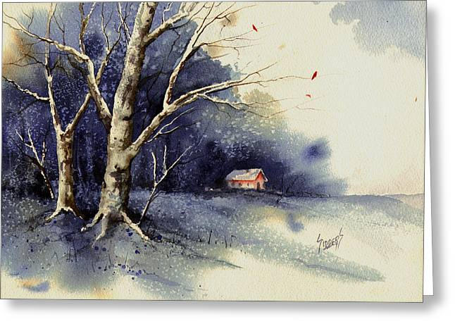 Cold Greeting Cards - Winter Tree Greeting Card by Sam Sidders