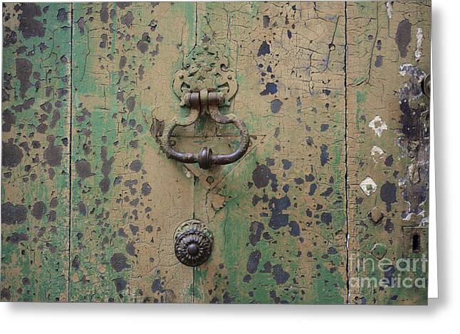 France Doors Greeting Cards - Wooden door Greeting Card by Bernard Jaubert