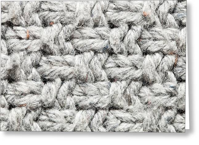 White Cloth Greeting Cards - Wool pattern Greeting Card by Tom Gowanlock